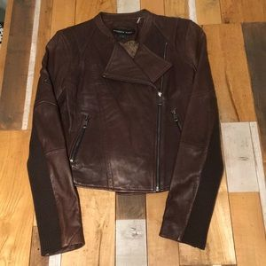 Brown Andrew Marc Lambskin Jacket